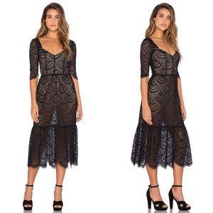 For Love and Lemons Rosalita Midi Dress NWT